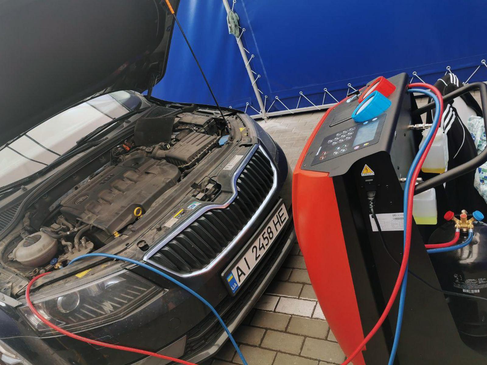 Заправка автокондиционера в Броварах